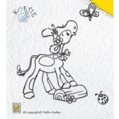 Nellie Snellen - Koetie Clear Stamp - Koetie with Butterfly